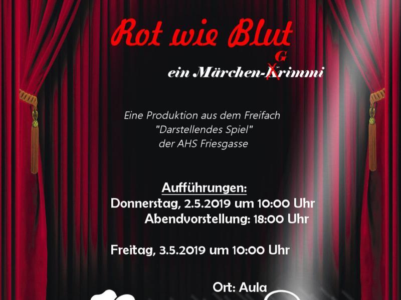 "Theateraufführung ""Rot wie Blut"""