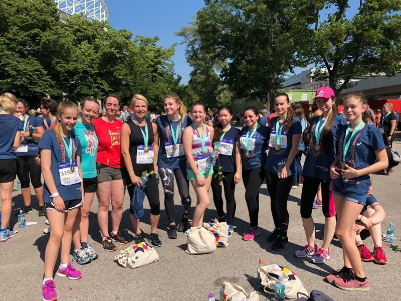 Friesgassen-Ladys beim Frauenlauf 2018