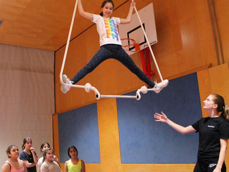 Zirkus-Workshop der 1. Klassen